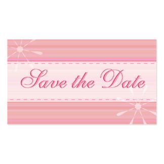 Mini reserva del rosa las tarjetas de fecha tarjetas de visita