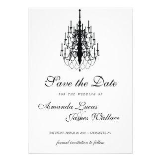 mini reserva elegante de la lámpara la fecha invitacion personalizada