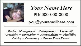 mini resume business card