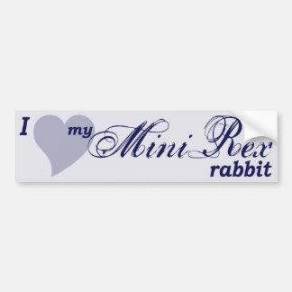 Mini Rex rabbit bumper sticker
