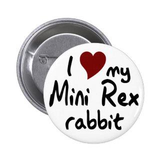 Mini Rex rabbit Pinback Buttons