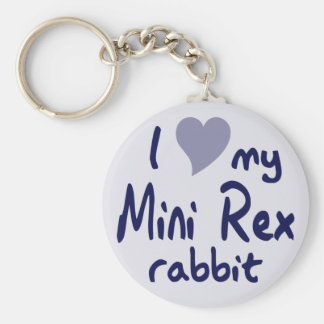 Mini Rex rabbit Keychain