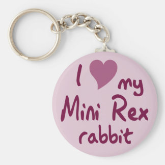 Mini Rex rabbit Key Chain