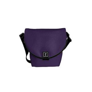 Mini Rickshaw Bag Purple & Black