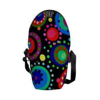 Mini Rickshaw Messenger Bag in Polka Dots!