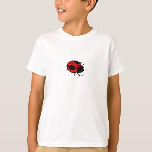 Mini rojos y negros de la mariquita - playera