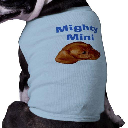 Mini ropa poderosa del Dachshund para la camiseta  Prenda Mascota