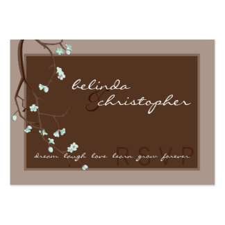 MINI RSVP REPLY CARD :: cherry blossoms 4L Business Card Templates