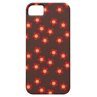 Mini sakura red and brown cherry blossoms pattern iPhone 5 covers