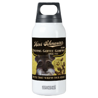 Mini Schnauzer Brand – Organic Coffee Company 10 Oz Insulated SIGG Thermos Water Bottle