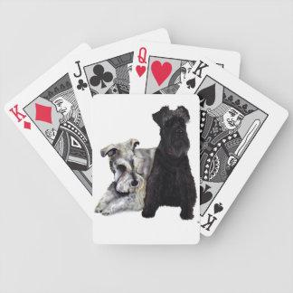 Mini Schnauzer Cards Bicycle Poker Deck
