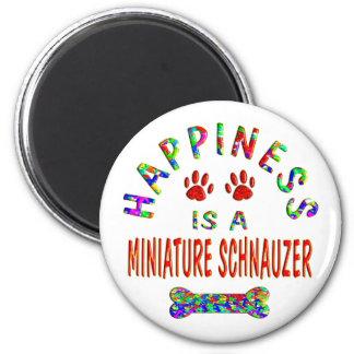 Mini Schnauzer Happiness 2 Inch Round Magnet