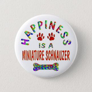 Mini Schnauzer Happiness Button