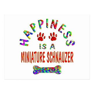 Mini Schnauzer Happiness Postcard