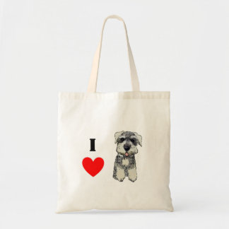 Mini Schnauzer Love Tote Tote Bags