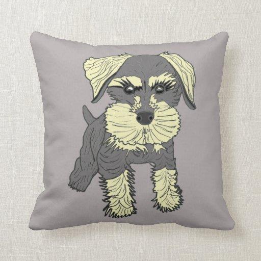 Should I Throw Away Old Pillows : Mini Schnauzer Throw Pillows Zazzle