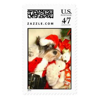 Mini Schnauzer X'mas Stamps