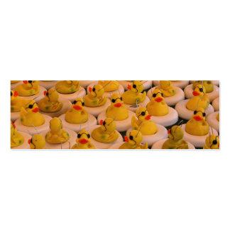 Mini señal de la foto de goma fresca de Duckies Tarjetas De Visita Mini