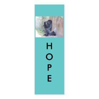 Mini señales de la esperanza tarjetas de visita mini