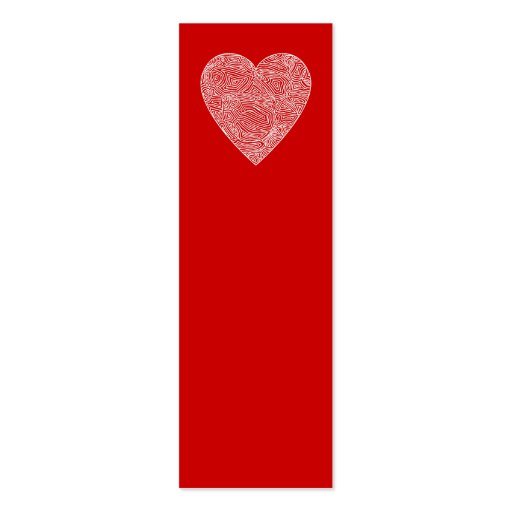 Mini señales del corazón - tarjeta de visita