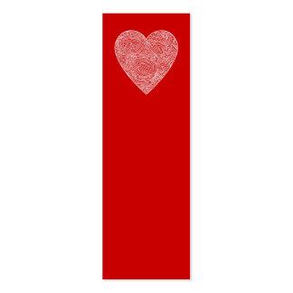 Mini señales del corazón - tarjetas de visita mini