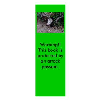 Mini señales del oposum salvaje tarjetas de visita mini