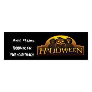 Mini señales para el favor de fiesta de Halloween Tarjetas Personales