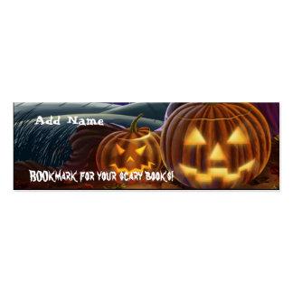 Mini señales para el favor de fiesta de Halloween Plantilla De Tarjeta Personal