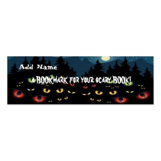 Mini señales para el favor de fiesta de Halloween Tarjetas De Negocios