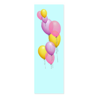 Mini señales Repurposed de los globos Tarjeta Personal