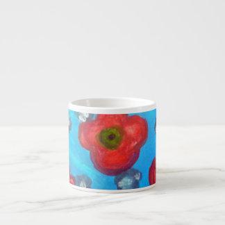 Mini señora ligera Floral Mug Taza Espresso
