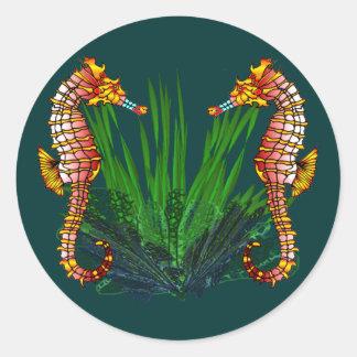 Mini Sequaruium Peeks Sea Horse Stickers