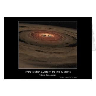 Mini Sistema Solar en la fabricación - el concepto Felicitacion