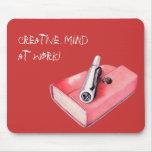 Mini Sketchbook rojo Mousepad Tapetes De Raton