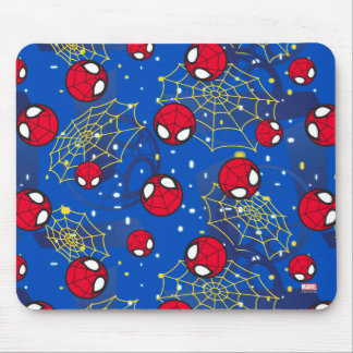 Mini Spider-Man and Web Pattern Mouse Pad