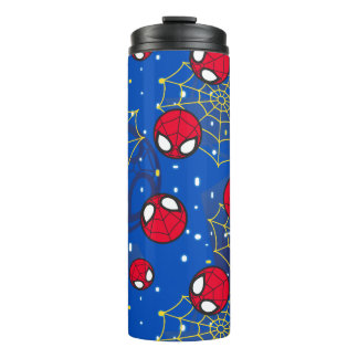 Mini Spider-Man and Web Pattern Thermal Tumbler