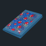 """Mini Spider-Man and Web Pattern Tri-fold Wallet<br><div class=""""desc"""">Spider-Man   Mini Spider-Man&#39;s cute little head floats about a galaxy of webbing in this adorable pattern.</div>"""