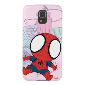 Mini Spider-Man & City Graphic Galaxy S5 Cover