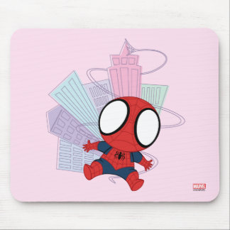 Mini Spider-Man & City Graphic Mouse Pad