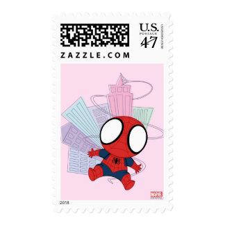 Mini Spider-Man & City Graphic Postage Stamp