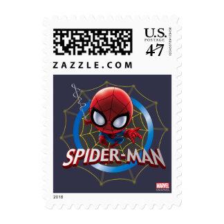 Mini Spider-Man estilizado en Web Sellos
