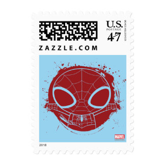 Mini Spider-Man Grunge Graphic Postage
