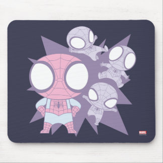 Mini Spider-Man Poses Mouse Pad