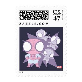 Mini Spider-Man Poses Stamp