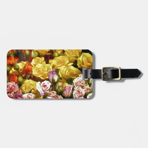 Mini Spray Roses Travel Bag Tags
