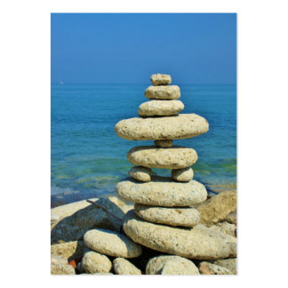 Mini Stone Stack Design Large Business Card