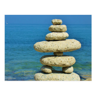 Mini Stone Stack Design Postcard