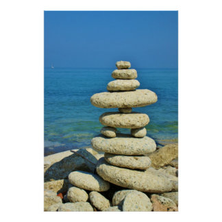 Mini Stone Stack Design Poster