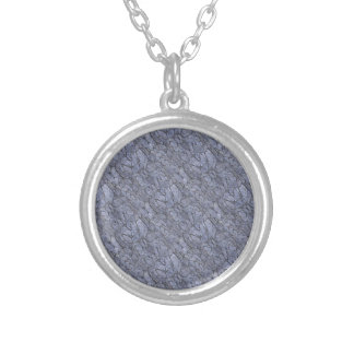 Mini Stone Tiles Silver Plated Necklace