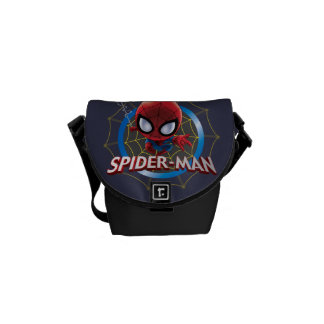 Mini Stylized Spider-Man in Web Messenger Bag
